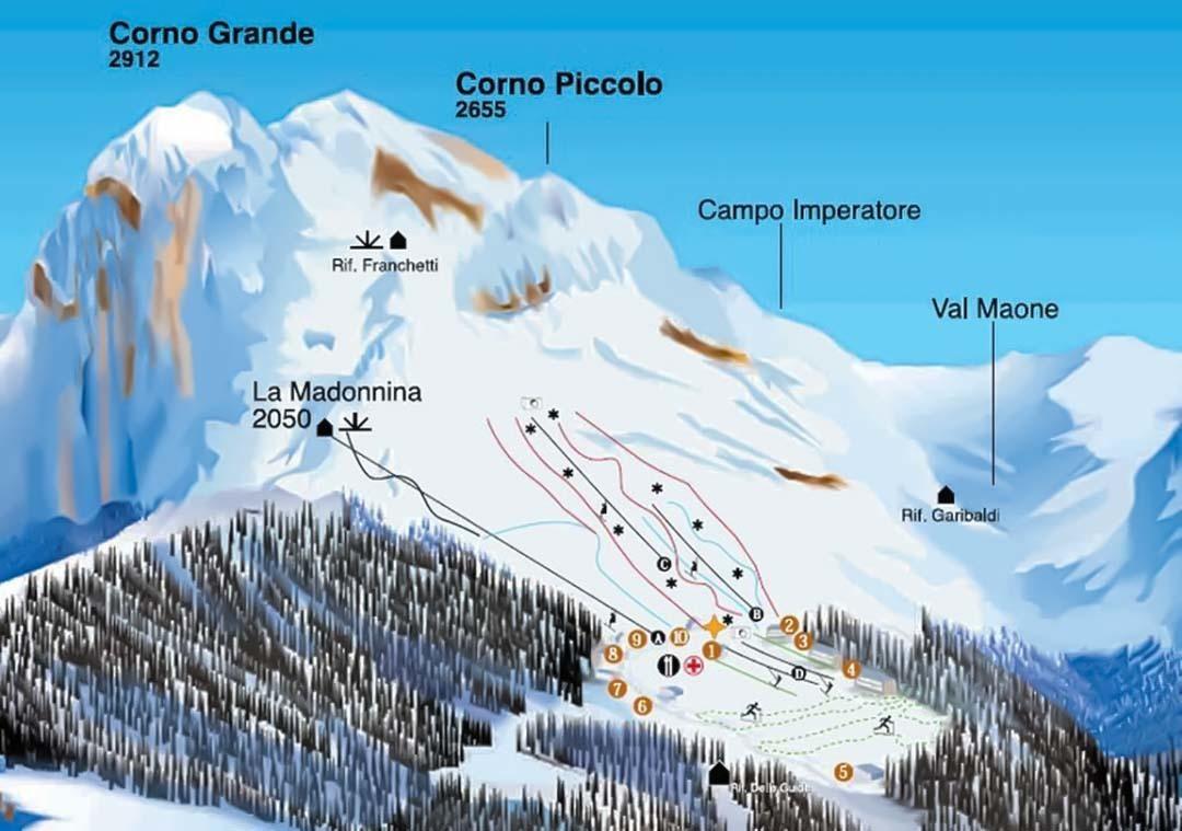 Prati Di Tivo Infografica Impianti Discover Abruzzo